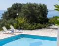 Villa Andonis Top floor balcony with panoramic sea views, Nissaki Corfu